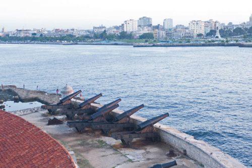 Baterías del Castillo de los Tres Reyes del Morro de La Habana