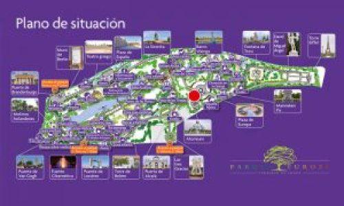 Plano de situación del Parque Europa de Torrejón de Ardoz