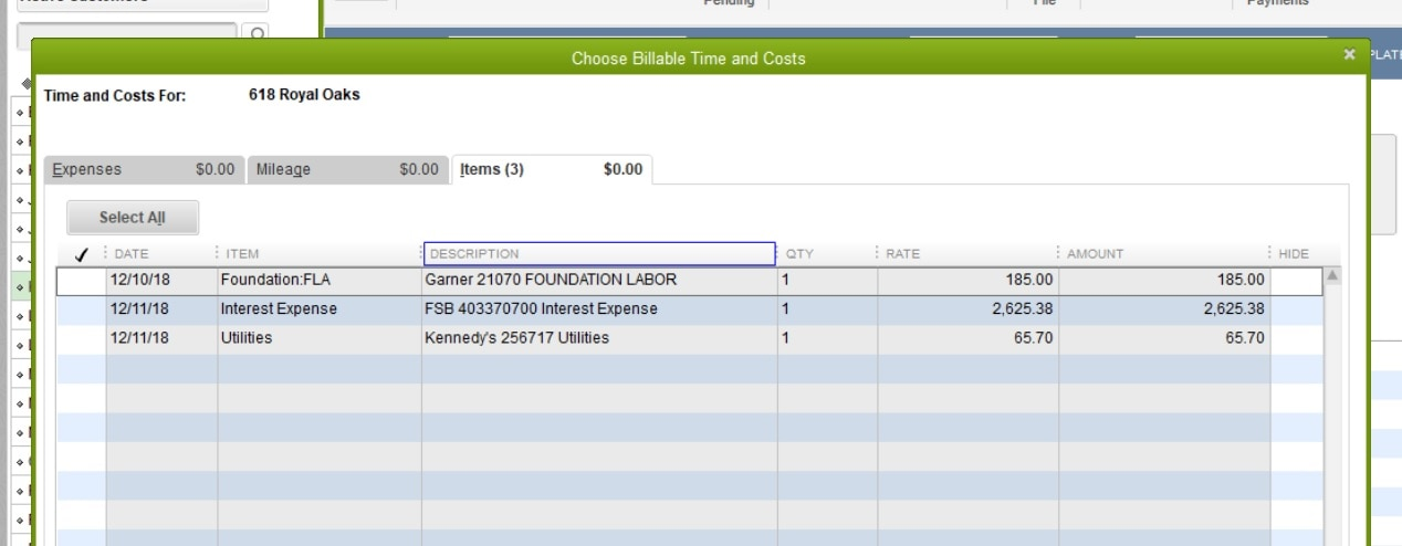 How to copy description from entered bill to invoi - QuickBooks