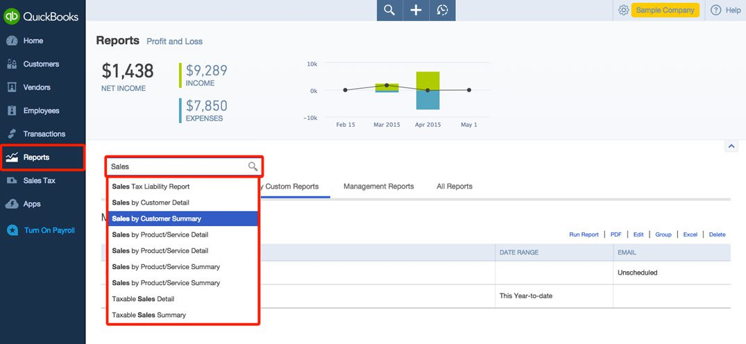 Create Custom Reports in QuickBooks