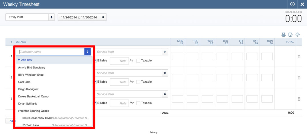 Time Tracking Invoices in QuickBooks