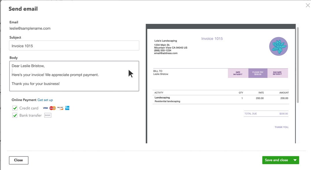 Create an Invoice in QuickBooks - creat an invoice