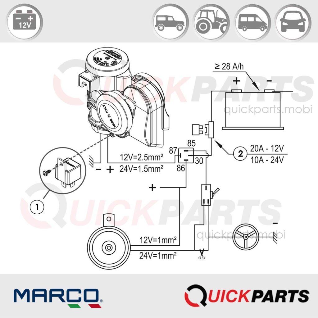 wiring diagram for car air horns
