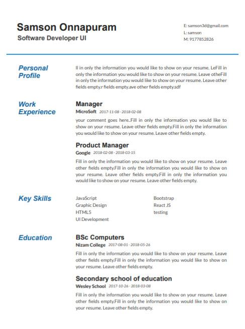 25 Professional Resume Templates Free Download SetResume