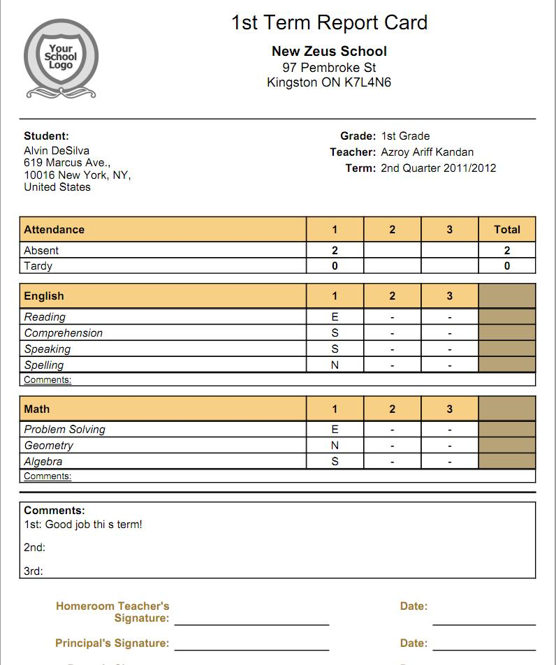 What is the relationship between Gradebooks and Report Cards