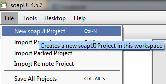Create a New Project in soapUI