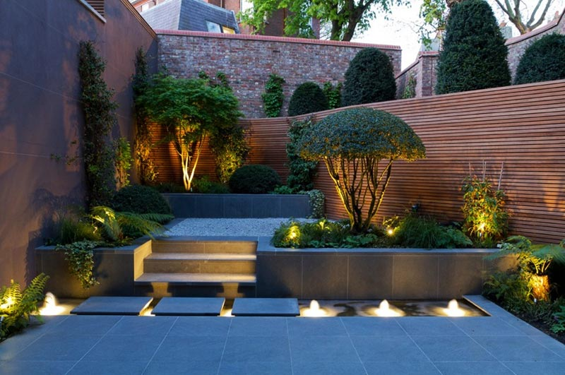Small Garden Landscape Design Ideas Quiet Corner:sloping Garden Design Ideas - Quiet Corner