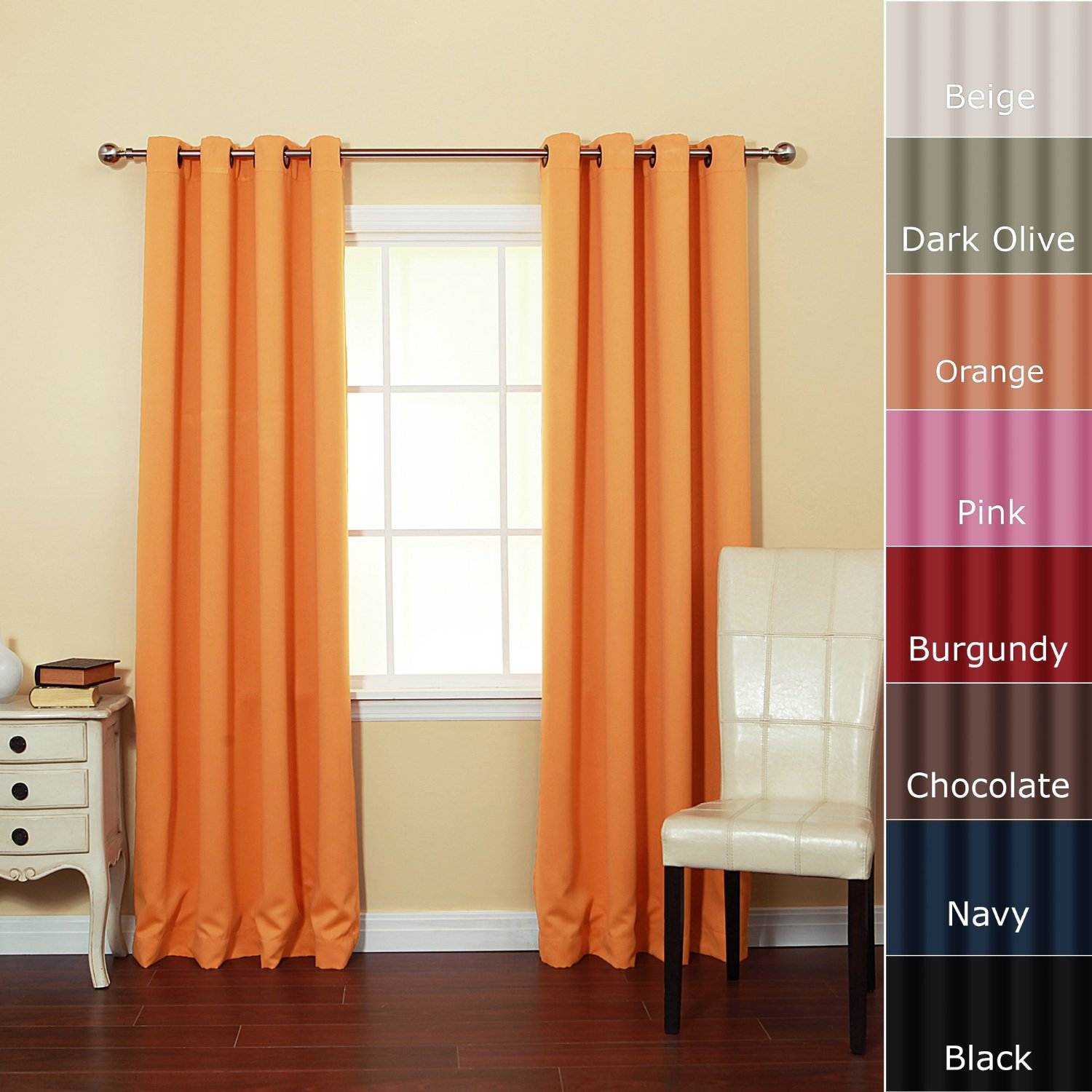 Orange Curtain Panels Orange Curtains For Living Room With Bright Inspirations