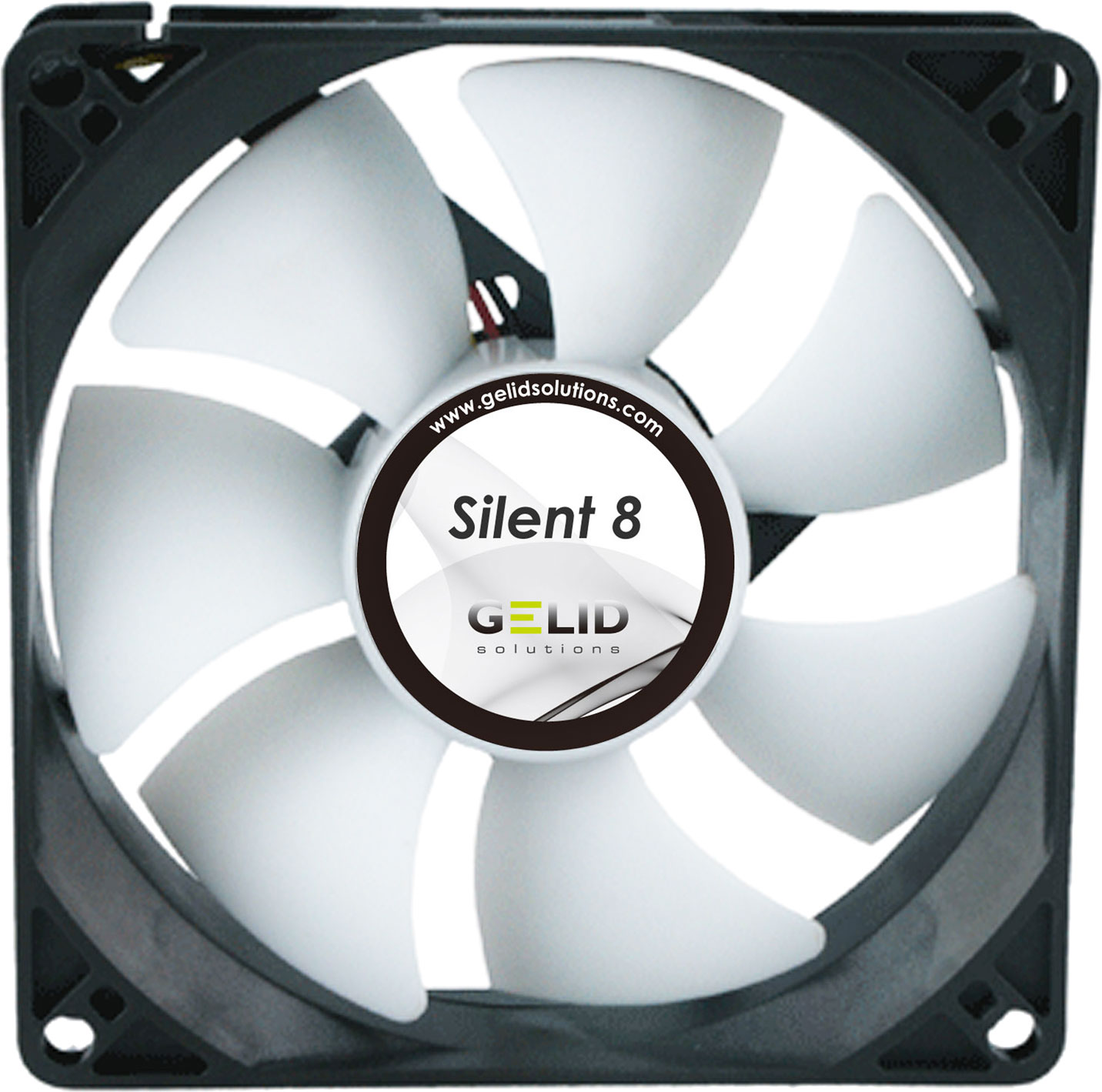 Ventilator Lautlos Silent 8, 80mm Quiet Case Fan