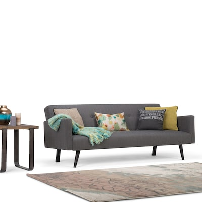 Sofa Take Home Today Simpli Home Morgan Linen Look Sofa Bed In Graphite Grey Axcsof 04 Gg