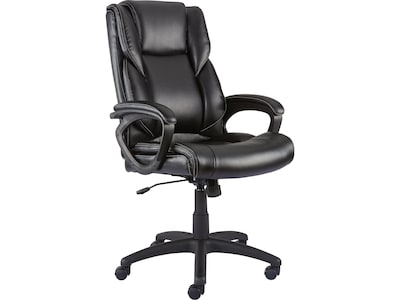 Grey Desk Chair Quill Brand Kelburne Luxura Faux Leather Computer And Desk Chair Black 50859