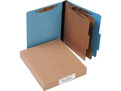 Cardboard Box Dividers Acco Colorlife Presstex Classification Folders With Permclip Fasteners Letter Size 2 Dividers Light Blue 10 Box A7015662