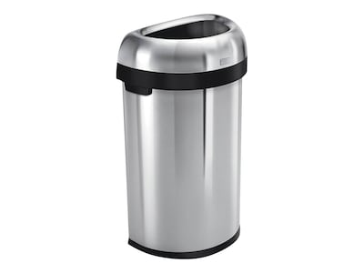 Metal Indoor Trash Can Simplehuman Indoor Trash Can W Lid Brushed Stainless Steel 16 Gal Cw1468