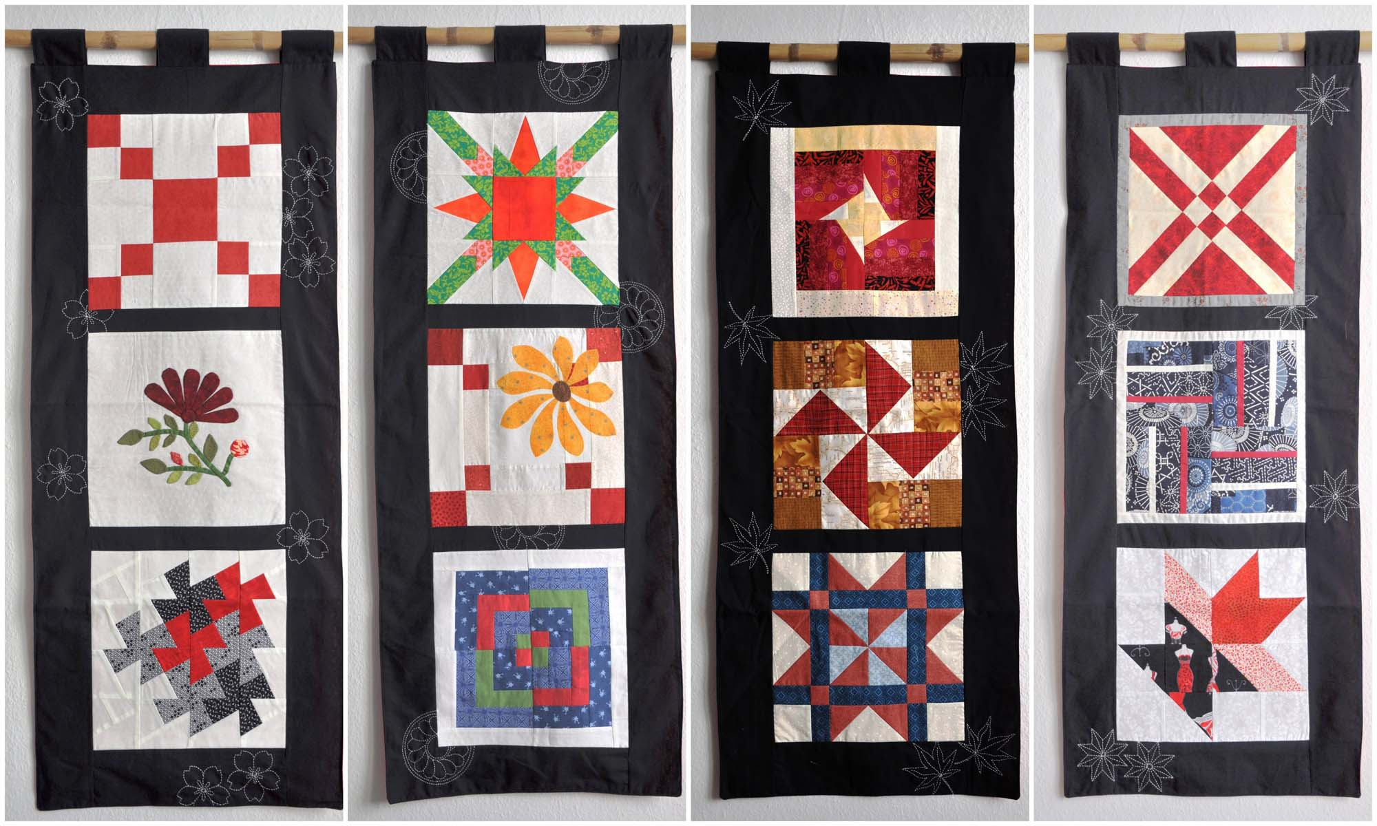 Quilt Wandbehang Yukikos Wandbehang Quilt Around The World