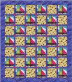 Sailboats Quilt Block Pattern