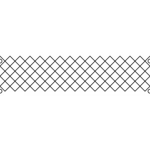 6 inch crosshatch quilting template