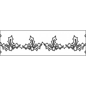 6 inch holly quilting template