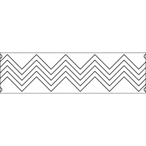 6 inch zig zag quilting template