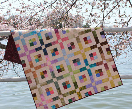 Stined Glass quilt Ivory Spring