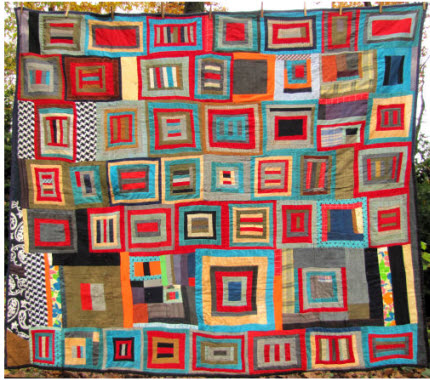 tied antique quilt