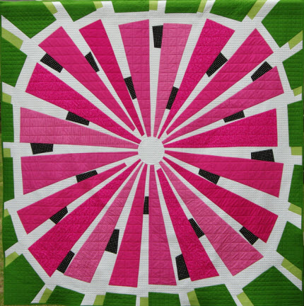 abstract watermelon quilt
