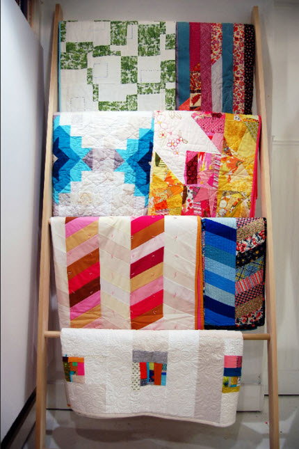 make a quilt ladder