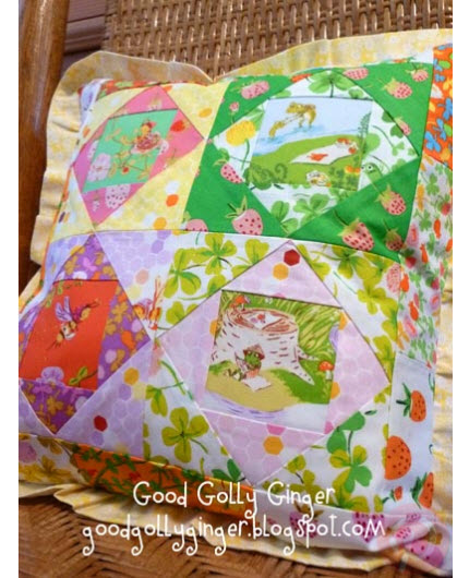 patchwork ruffle pillow Good Golly Ginger