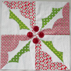 Holly Block quilt block