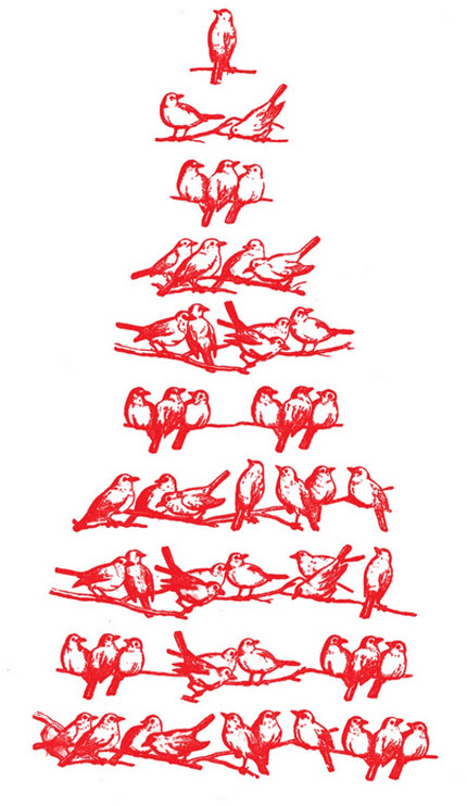 Birds Christmas Tree