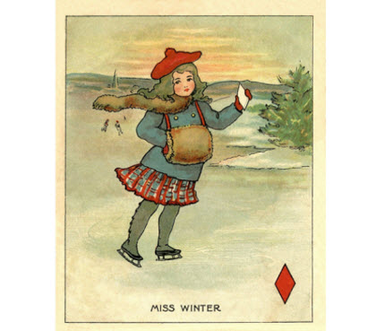 Miss Winter Clip Art Vintage Graphics Fairy