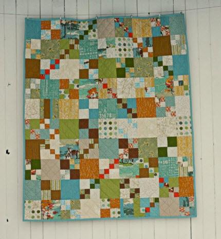 Penny Patch quilt Blue Elephant