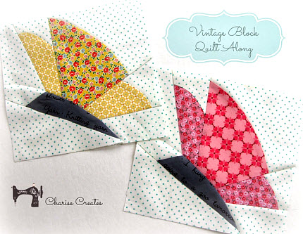 Spring Butterfly quilt block free download