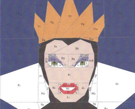 Snow White Evil Queen paper piecing pattern