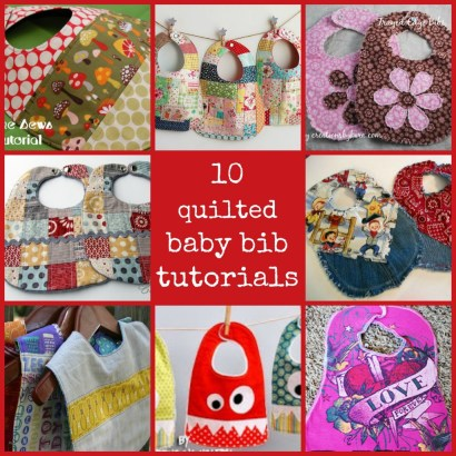 10 quilted baby bib tutorials - CraftGossip