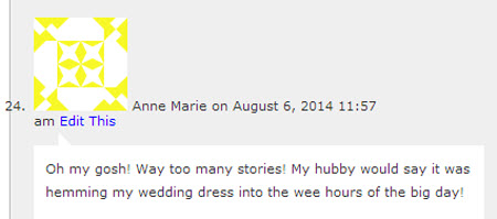Anne Marie Commenter 24 Wins Giveaway