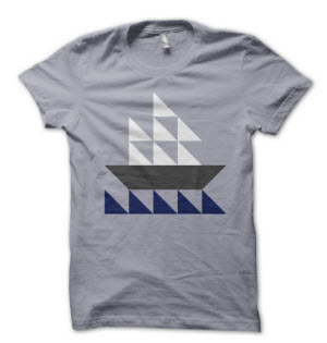 BoysTshirtSailboatHalfSquareTriangles