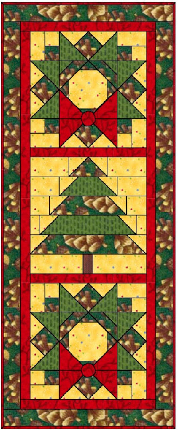 Free Pattern Christmas Quilt Table Runner : 7 Quilted Holiday Table Runners Quilting