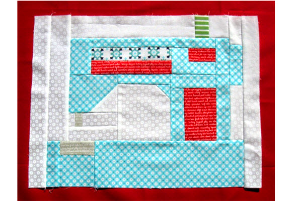 Qal Block Two Sewing Machine Quilting