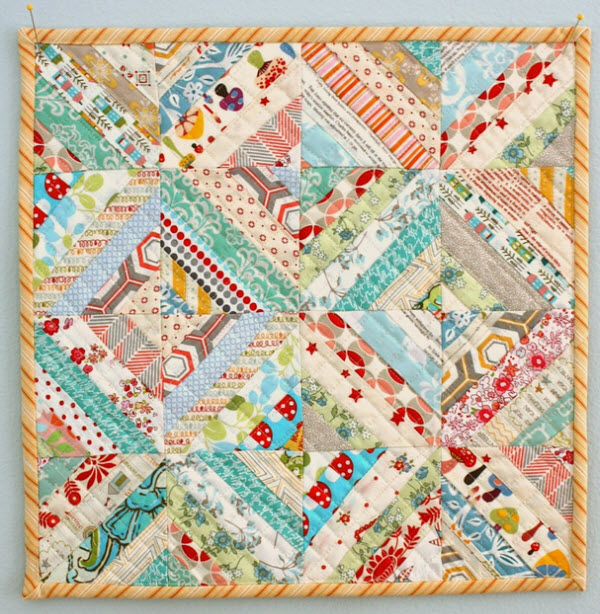 Mini Scrap quilt tutorial Amy Smart