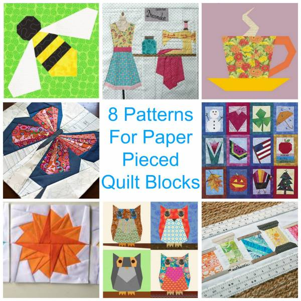 Quilting Designs On Paper : 8 Patterns For Paper Pieced Quilt Blocks Quilting