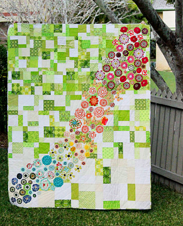 Tutorial Spring meadow quilt