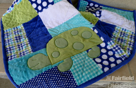 Free pattern: Spotty the Turtle applique