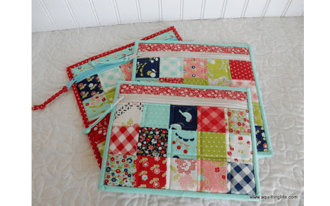 Video Tutorial Patchwork Zipper Bags