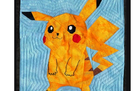 Free pattern: Pikachu quilt block