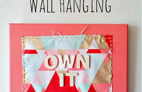 Tutorial: Fabric on canvas wall decor