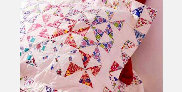 Pinwheel Pillow Shams Quilting Cubby