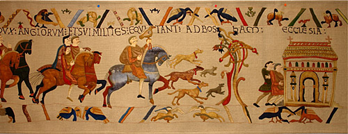 Part of the Bayeux Tapestry