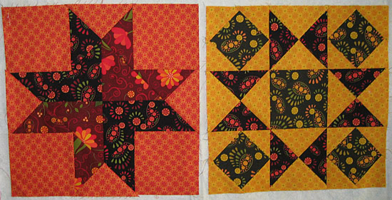 Summer Star Sampler blocks-9-10