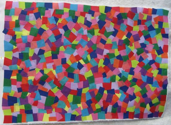 mosaic fabric - all done