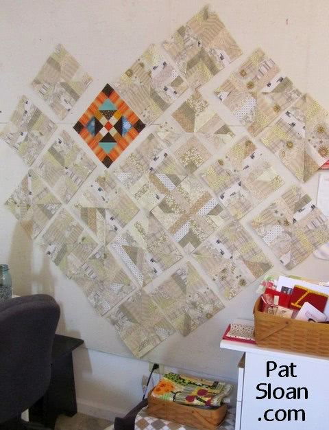 Pat Sloan design wall scrap blocks